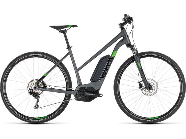 Cube Cross Hybrid Pro 400 E-crossbike Trapez grå (2019) | City-cykler